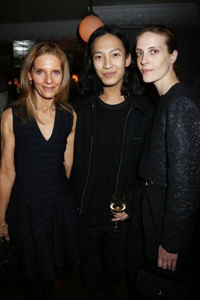 Sandy Brant, Alexander Wang and Vanessa Traina