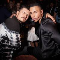 Orlando Bloom and Olivier Rousteing