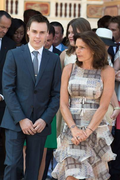 Louis Ducruet and Princess Stephanie of Monaco