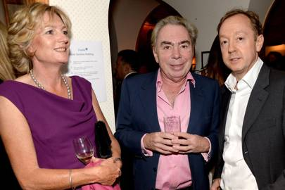 Lady Lloyd-Webber, Lord Lloyd-Webber and Geordie Greig