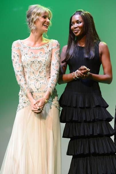 Caroline Winberg and Naomi Campbell