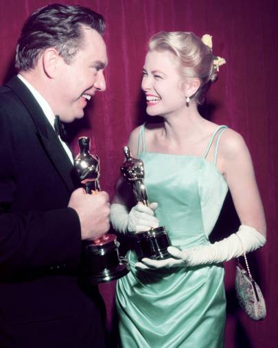 Edmond O'Brien and Grace Kelly