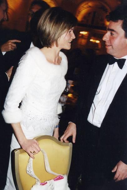 Mrs John Chenevix Trench and Nick Powell