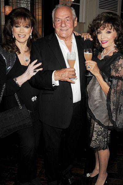 Jackie Collins, Johnny Gold and Joan Collins