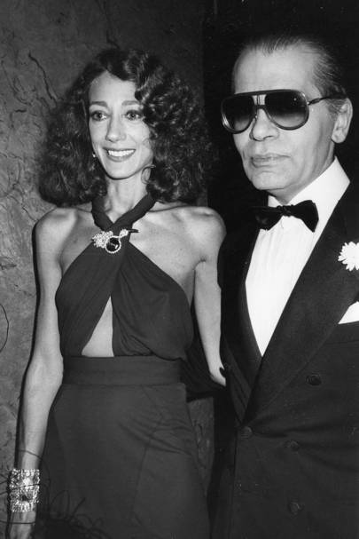 Marisa Berenson and Karl Lagerfeld