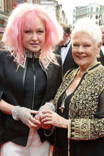 Cyndi Lauper and Dame Judi Dench