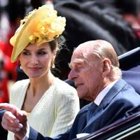 Queen Letizia of Spain with the Duke of Edinburgh