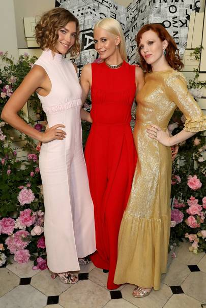 Arizona Muse, Poppy Delevingne and Karen Elson