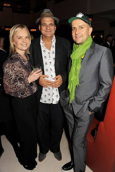 Mariella Frostrup, Gerry Fox and Marc Quinn