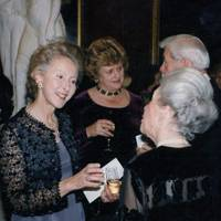 The Countess of Mansfield and Mansfield, Elizabeth Macdonald-Buchanan, Lord Macfarlane of Bearsden and Lady Macfarlane of Bearsden