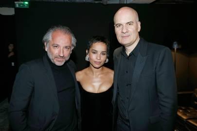 Cyril Chapuy, Zoë Kravitz and Stephan Bezy