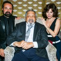 Evgeny Lebedev, Sir VS Naipaul and Anna Friel