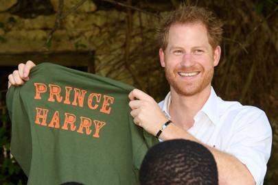 Prince Harry at the Nature Fun Ranch in St Andrew, Barbados, 2016.