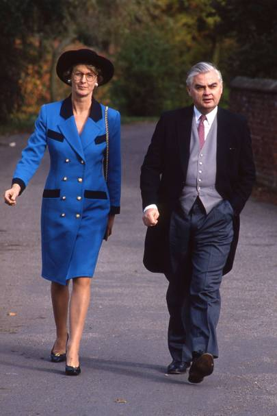 Mrs Norman Lamont and Norman Lamont