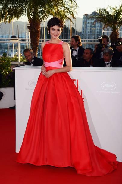 Audrey Tautou wearing Prada in 2013