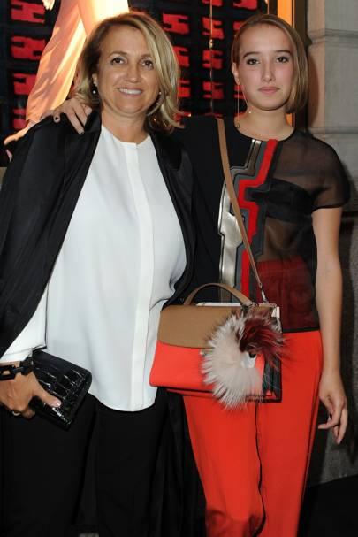 Silvia Venturini Fendi and Leonetta Luciano Fendi