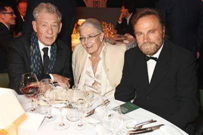 Sir Ian McKellen, Vanessa Redgrave and Franco Nero