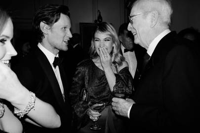 Matt Smith, Lily James and Sir Michael Caine