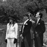 The Hon Mrs Amschel Rothschild, Simon Slater and the Hon Amschel Rothschild