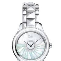 Stainless steel diamond & mother-of-pearl watch, 311,400 by Dior