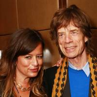 Jade Jagger and Mick Jagger