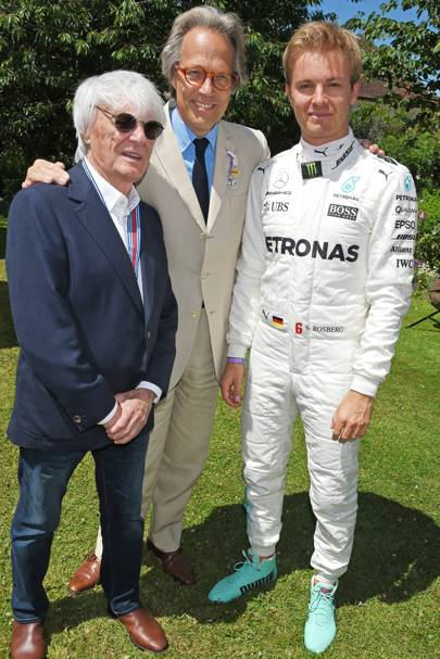 Bernie Ecclestone, Earl of March and Kinrara and Nico Rosberg