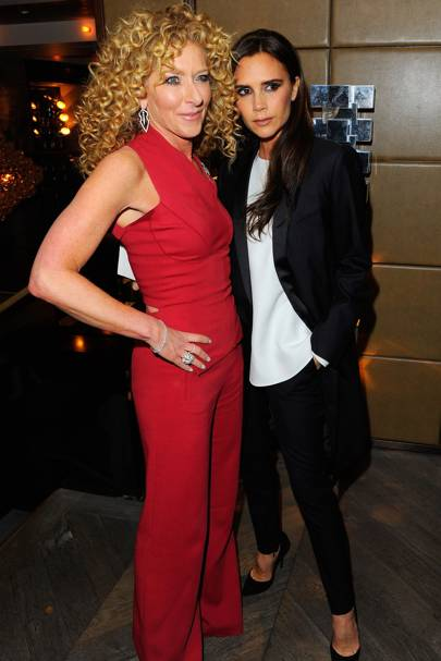 Kelly Hoppen and Victoria Beckham