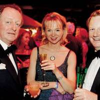 The Earl and Countess of Derby and Brigadier Andrew Parker Bowles