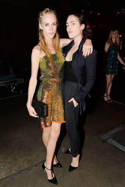 Mary Charteris and Tallulah Harlech