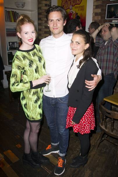 Zoe Boyle, Ben Aldridge and Sophie Kargman