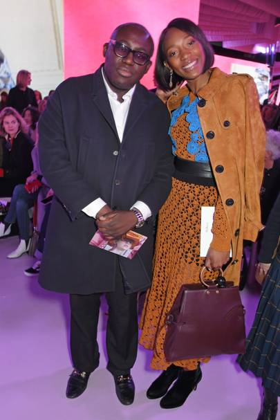 Edward Enninful and Vanessa Kingori at the Mulberry 'Beyond Heritage' S/S18 Presentation