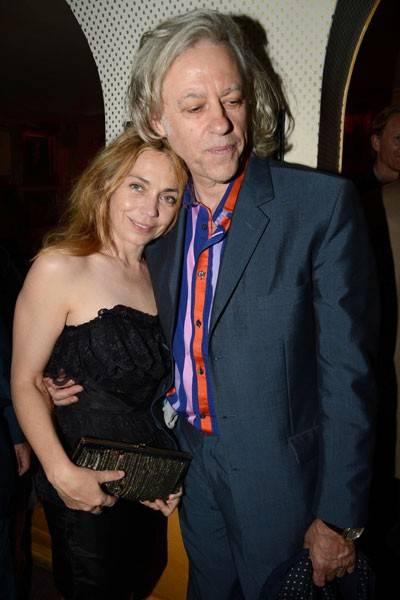 Jeanne Marine and Bob Geldof
