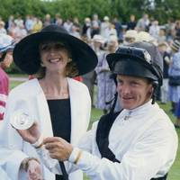 Mrs Richard Burton and Pat Eddery
