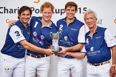 Eduardo Novillo Astrada, Prince Harry, Malcolm Borwick and Sir Charles Williams