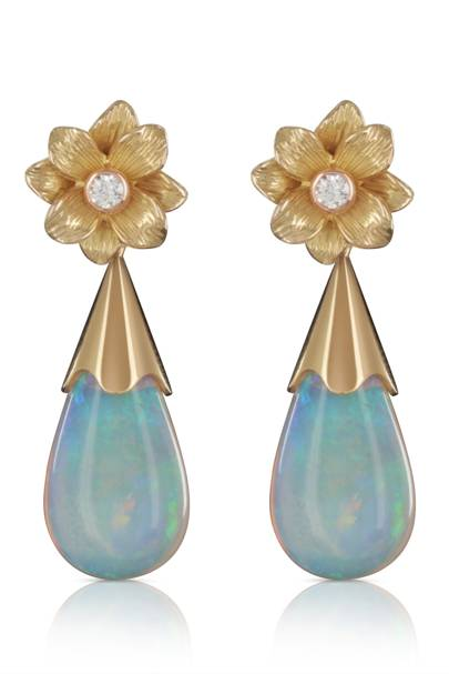 Opal and gold earrings, £2,200, Holts London