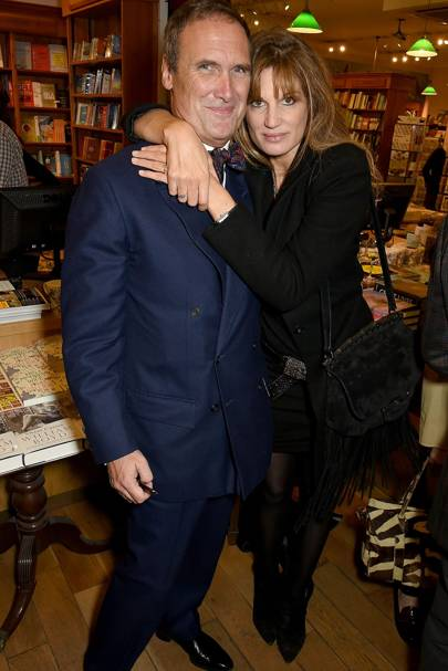 A.A. Gill and Jemima Goldsmith