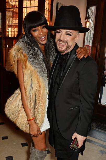 Naomi Campbell and Boy George