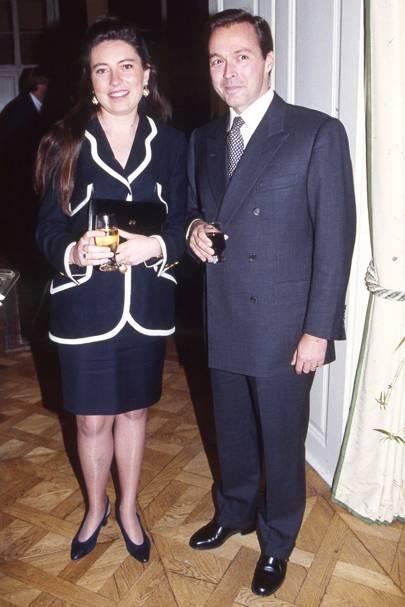 Mrs Karl-Friedrich Scheufele and Karl-Friedrich Scheufele