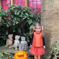 Alice Benton as a pumpkin