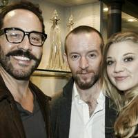 Jeremy Piven, Anthony Byrne and Natalie Dormer