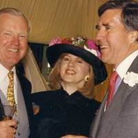 Sir Jocelyn Stevens, Tessa Kennedy and Harry Fitzgibbons