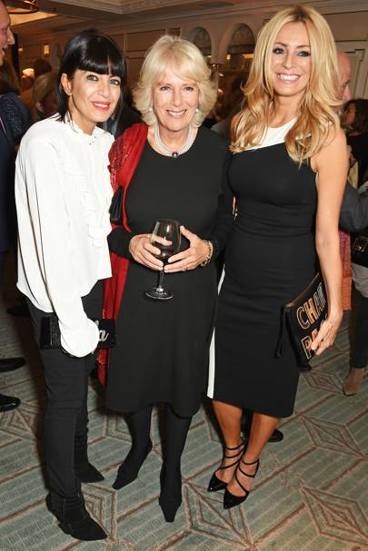Claudia Winkleman, The Duchess of Cornwall and Tess Daly