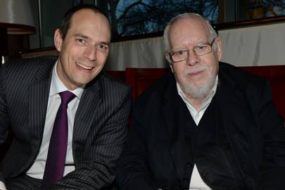Chistophe Hilty and Sir Peter Blake