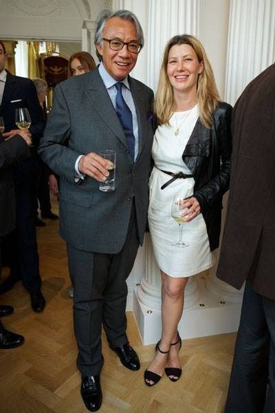 Sir David Tang and Sara Parker Bowles