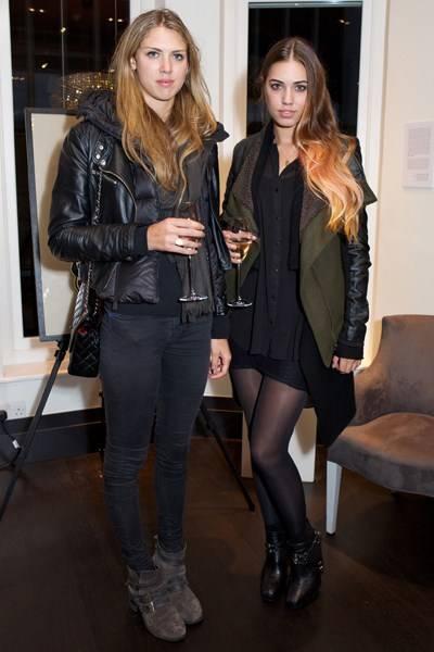 Sabrina Percy and Amber Le Bon
