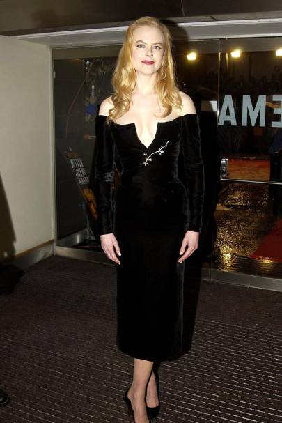 Wearing Saint Laurent at the Bafta's, 2002