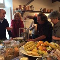 Cooking at the Villa Benvenuti estate