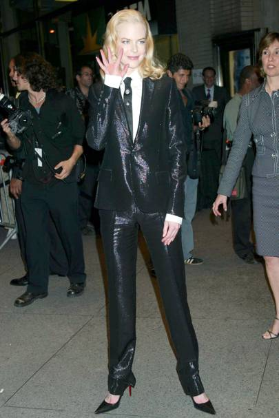 Wearing Hugo Boss at 'The Human Stain' premiere, 2003