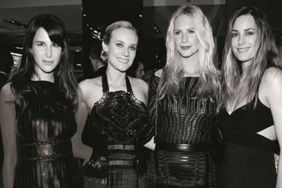 Caroline Sieber, Diane Kruger, Poppy Delevingne and Yasmin Le Bon