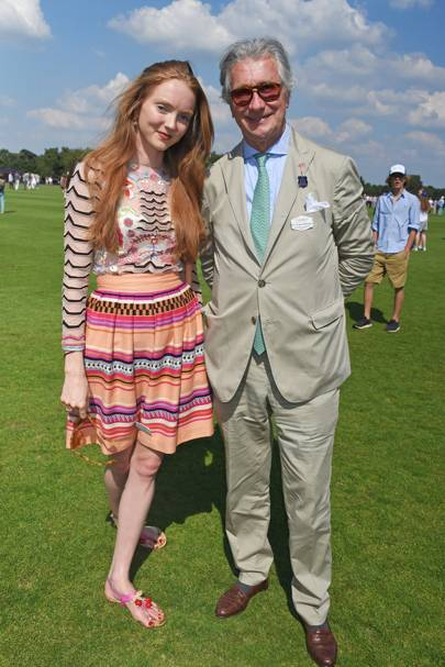 Lily Cole and Arnaud Bamberger